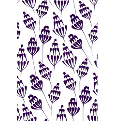 floral design seamless pattern hand drawn vector image