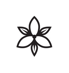 Flower jasmine logo design concept vector
