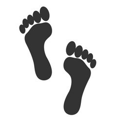 footprints flat icon vector image