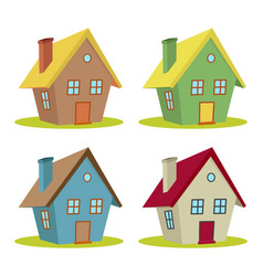 four houses vector image