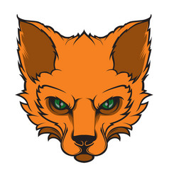 fox mascot for a sport team vector image