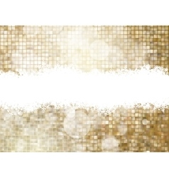 Gold Christmas background EPS 10 vector image