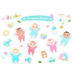 graphic source welcome baby sticker style vector image