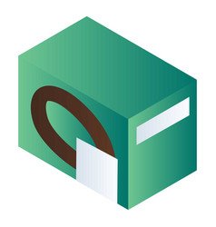green biscuit package icon isometric style vector image