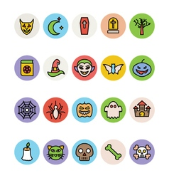 Halloween icons 1 vector