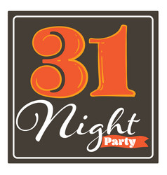 Halloween party night 31 october greeting card vector