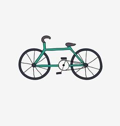 Hand drawn bike vector