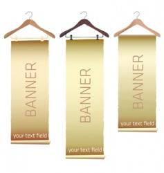 Hanger banners vector