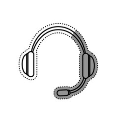 Headset communication device vector