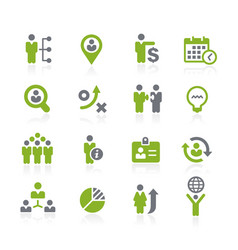 Human resources icons natura series vector