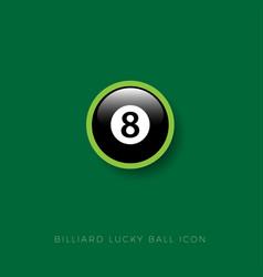 icon billiard ball eight vector image