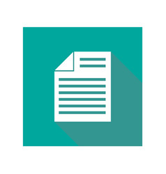icon document flat style vector image