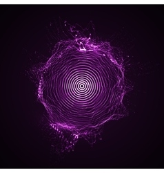 illuminated shape of particles array vector image