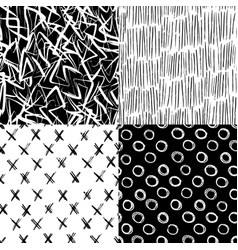 ink hand drawn brush strokes seamless pattern vector image