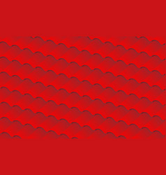 Isometric red background roof tile pattern for vector