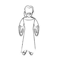 jesuschrist cute cartoon vector image vector image