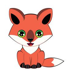 Kawaii little fox vector