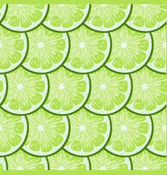 Lime slices tile seamless pattern bright green vector