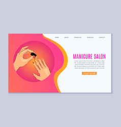 manicure and nail art salon web template vector image