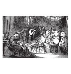 Mathathias laments the defilement of jerusalem vector