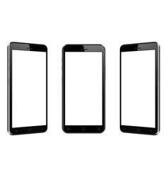mobile phone with different views vector image