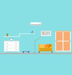 modern flat room interior design vector image