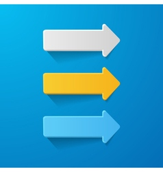 paper arrows on blue background vector image