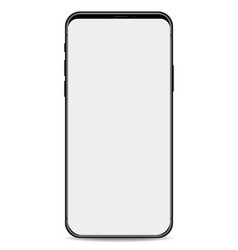 phone black with white screen isolated on white vector image