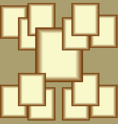 Plastic golden square composition abstract tile vector