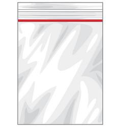 Plastic zipper lock bag vector
