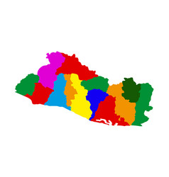 political map of el salvador vector image