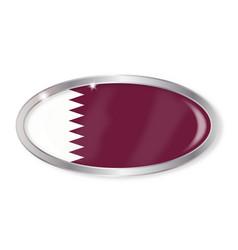 Qatar flag oval button vector