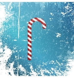 Realistic Christmas striped sweet Candy Cane vector image