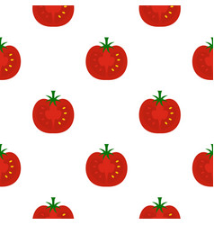 Red half of tomato pattern flat vector