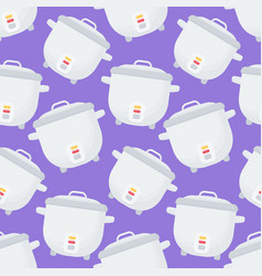 rice cooker seamless pattern vector image