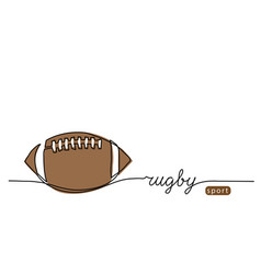 rugby ball american football ball one continuous vector image