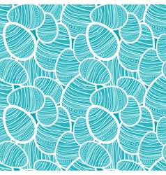 Seamless easter pattern with decorated eggs vector