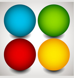 set of blank circles with space elements vector image