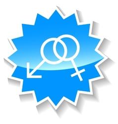 Sex blue icon vector
