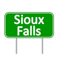 Sioux Falls green road sign vector