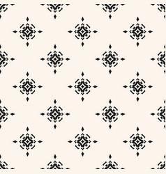 subtle geometric seamless pattern with stars vector image