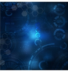 Technology background technological elements vector