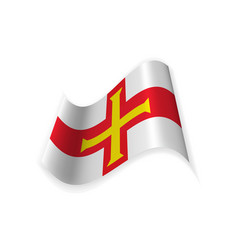 the flag of guernsey vector image