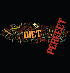 the perfect diet to lose weight fast text vector image