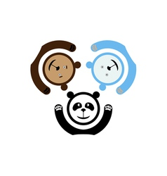 three bears emblem vector image