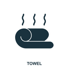 towel icon flat style icon design ui vector image