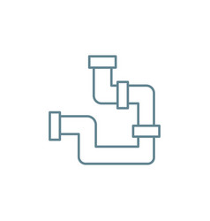 water supply communications linear icon concept vector image