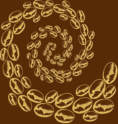 whirlwind of coffee beans vector image