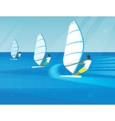 Windsurfing competition vector image
