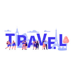 world travel tour business banner design vector image
